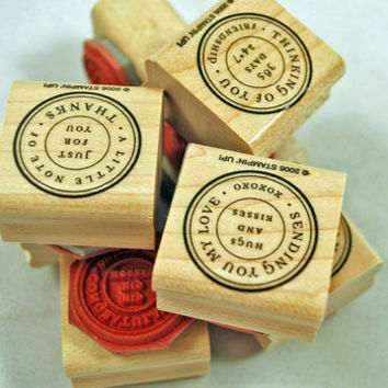 """Stampin Up Rubber Stamps """"Circle of Friendship"""" 2006 Retired Rubber Stamps MINT Never Used Retired HTF Scrapbooking Cardmaking Collage"""