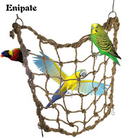 Blytieor Macaw large hemp rope Climbing net Parrot Bird Cage Toy Hanging Rope Climbing net Parrot Training Climbing Swing Ladder