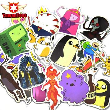 25 Pcs Adventure time Stickers Luggage Laptop Car Styling Skateboard DIY Doodle Decals Home Decor Waterproof Sticker kid's Toys