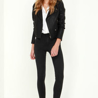 Fit the Mark Washed Black High-Waisted Skinny Jeans