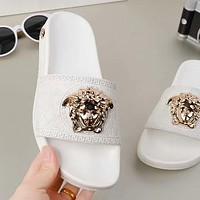 Versace Woman Men Fashion Medusa Slipper Sandals Shoes-2