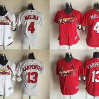 2016 Womens St. Louis Cardinals #4 Yadier Molina #13 Matt Carpenter 50 Adam Wainwright Cool Base Baseball Jerseys Free Drop Shipping