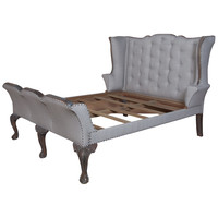 Ashley Tufted Sleigh Bed