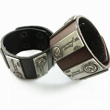 Genuine Leather Bracelets ~ Punk Rock Style ML1035