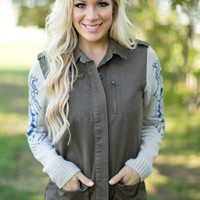 The City Sweater Jacket in Olive