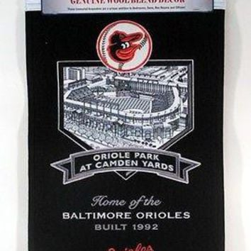 Baltimore Oriole Park at Camden Yards 15x24 Wool Stadium Banner FREE US SHIPPING