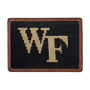 Wake Forest Needlepoint Credit Card Wallet by Smathers & Branson