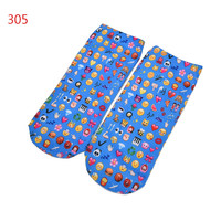 Quality Socks 3D Printing Women Sock Emoji Pattern Cute Feminina Funny Low Ankle Socks SM6