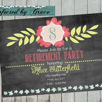 DIY PRINTABLE Retirement Party Invitation or Customize to Birthday Party Any Event