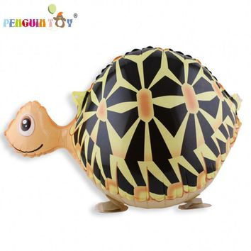Free Shipping 61*32 Tortoise Walking Animal Balloon Animals Inflatable Air Ballon For Supplies Kids Classic Toy Zoo Theme Party