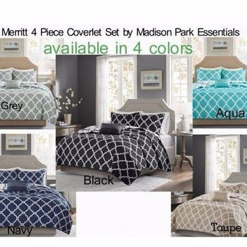 Merritt 4 Piece Coverlet Set by Madison Park Essentials