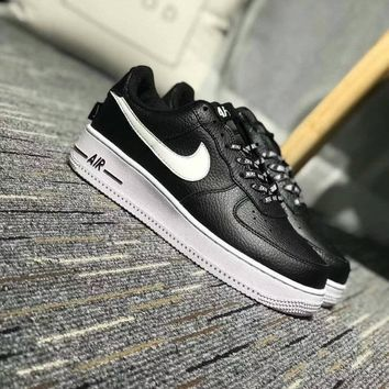 Nike Air Force 1 Low NBA Pack Unisex Sport Casual Letter Shoelace Plate Shoes Couple Fashion Sneakers-1