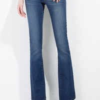 Mid Rise Blue Small Flare Trendy Convergence Jeans