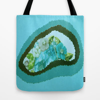 Blues flowers collage no.2 Tote Bag by Lucine | Society6