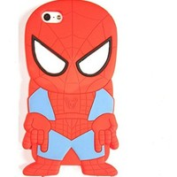 Cute 3d Cartoon Hero Spiderman Soft Silicone Back Case Cover Skin for Iphone 4 4s 5 5s 6 6plus Samsung Galaxy S3 I9300 S4 I9500 S5 I9600 (samsung galaxy s5 i9600)