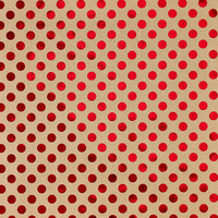 Red Foil Dots Recycled Gift Wrap