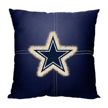 "Dallas Cowboys NFL 18""x 18"" Letterman Pillow"