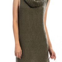 Sleeveless Cowl neck knit Dress