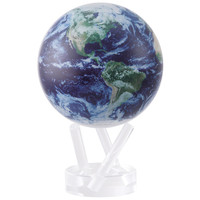 "4.5"" Globe - Satellite View w/ Cloud Cover"