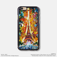 The Eiffel Tower oil painting Free Shipping iPhone 6 6 Plus case iPhone 5s case iPhone 5C case iPhone 4 4S case Samsung galaxy Note 2 Note 3 Note 4 S3 S4 S5 case 022