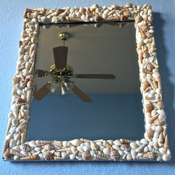 Seashell Handmade Mirror Beach House Wall Decor