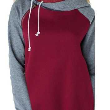 Women's Casual Loose Collar Hoodie