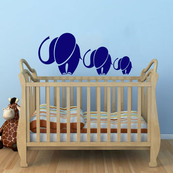 Mom and Baby Elephant Animal Wall Vinyl Decal Sticker Children Boy Girl Kids Baby Room Nursery Design Interior Decor Bedroom SV4544