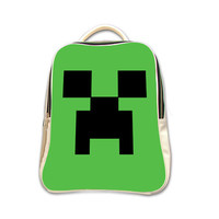 Creeper Character Green Creeper Minecraft Gamer Backpack (2015 New Arrival)
