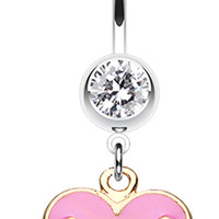 Juicy heart Belly Button Ring