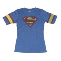 Bioworld Juniors Superman Logo Hockey T-shirt