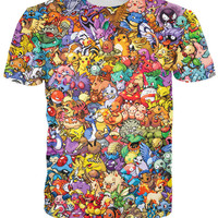 Pokemon Print T-Shirt