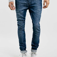 Mid Wash Spray On Skinny Fit Jeans