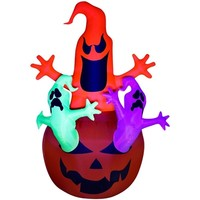 SheilaShrubs.com: Airblown Inflatable Pumpkin Ghosts Trio 64266 by Gemmy: Halloween