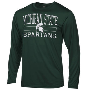 Michigan State Spartans Youth Structured Long Sleeve T-Shirt – Green - http://www.shareasale.com/m-pr.cfm?merchantID=7124&userID=1042934&productID=546711710 / Michigan State Spartans