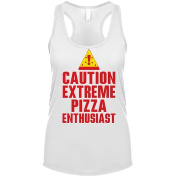Caution Extreme Pizza Enthusiast Women's Tank