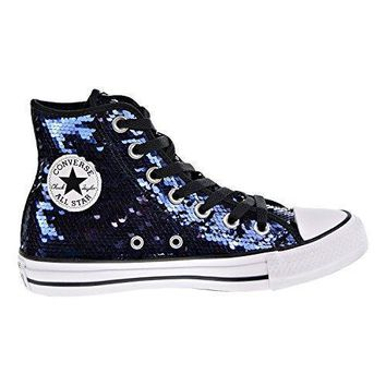 Converse Chuck Taylor All Star Sequin Hi Midnight Indigo Textile b8083be657ac
