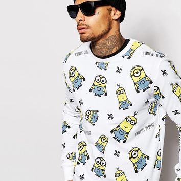Criminal Damage X Minions Sweatshirt With All Over Print