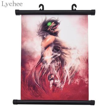 Cool Attack on Titan Lychee Japanese Anime  Poster Canvas Scroll Painting Living Room Home Wall Print Modern Art Decor Poster AT_90_11
