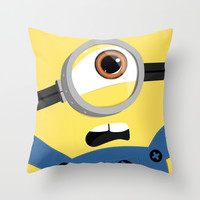 Minion Throw Pillow by Janice Wong