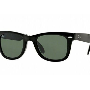 sunglasses Ray Ban RB4105 FOLDING WAYFARER polarized 601/58 size 54