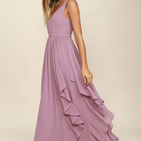 Simply Sweet Mauve Maxi Dress