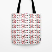 I love Los Angeles -Los angeles,L.A,Angeleno,City of Angels, The big Orange,patriot,Patriotic,Usa,us Tote Bag by oldking