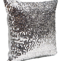 H&M - Sequined Cushion Cover - Silver
