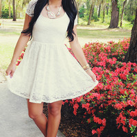 A Moment Like Bliss Dress: White