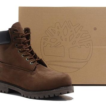 Timberland Rhubarb Boots 2018 Brown For Women Men Shoes Waterproof Martin Boots