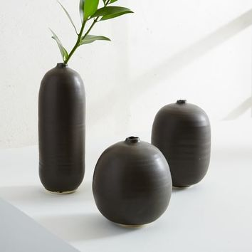 Judy Jackson Bottle Vase, Set of 3, Small, Black