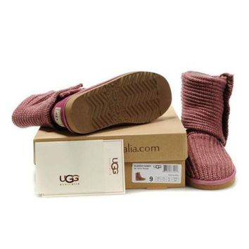 Gotopfashion Cyber Monday Uggs Boots Knit Classic Cardy 5819 Vermeil For Women 81 14
