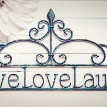 Home Decor Sign / Live Love Laugh Sign / Wall Hanging / Outdoor Decor Sign / Wall Decoration / Love Sign / Home Living / Decor & Housewares