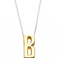 Alpha Necklace in Gold