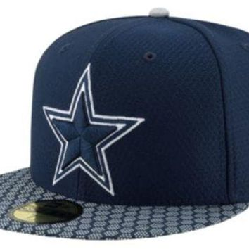 DCCKG8Q NFL Dallas Cowboys New Era 59Fifty Sideline Fitted Hat